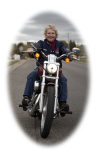 Ilene Christensen and the Harley